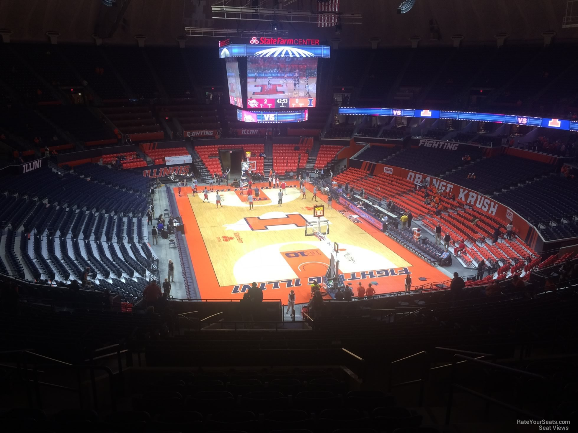 Seat View for State Farm Center Section 239, Row 10