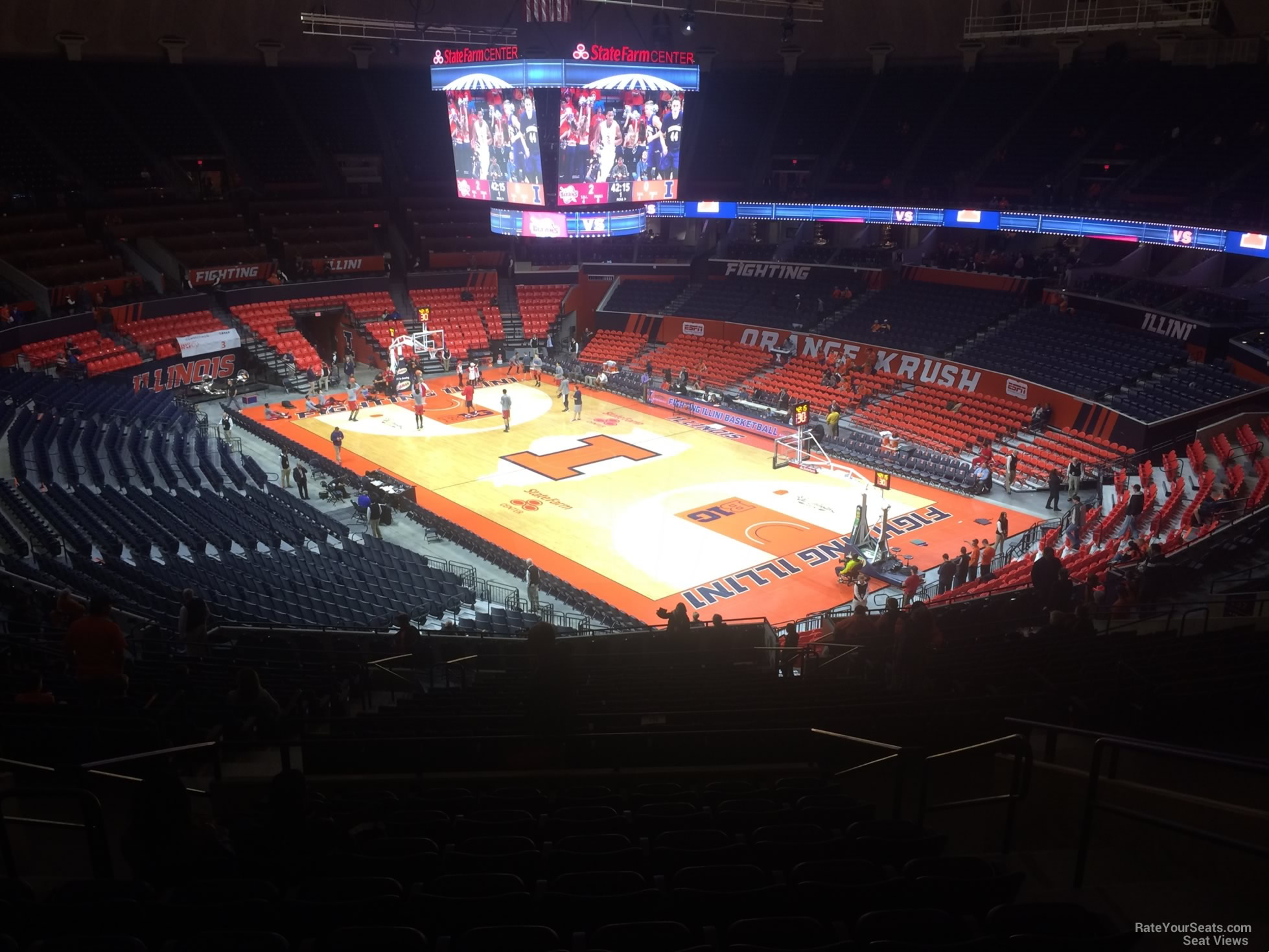 Seat View for State Farm Center Section 242, Row 10