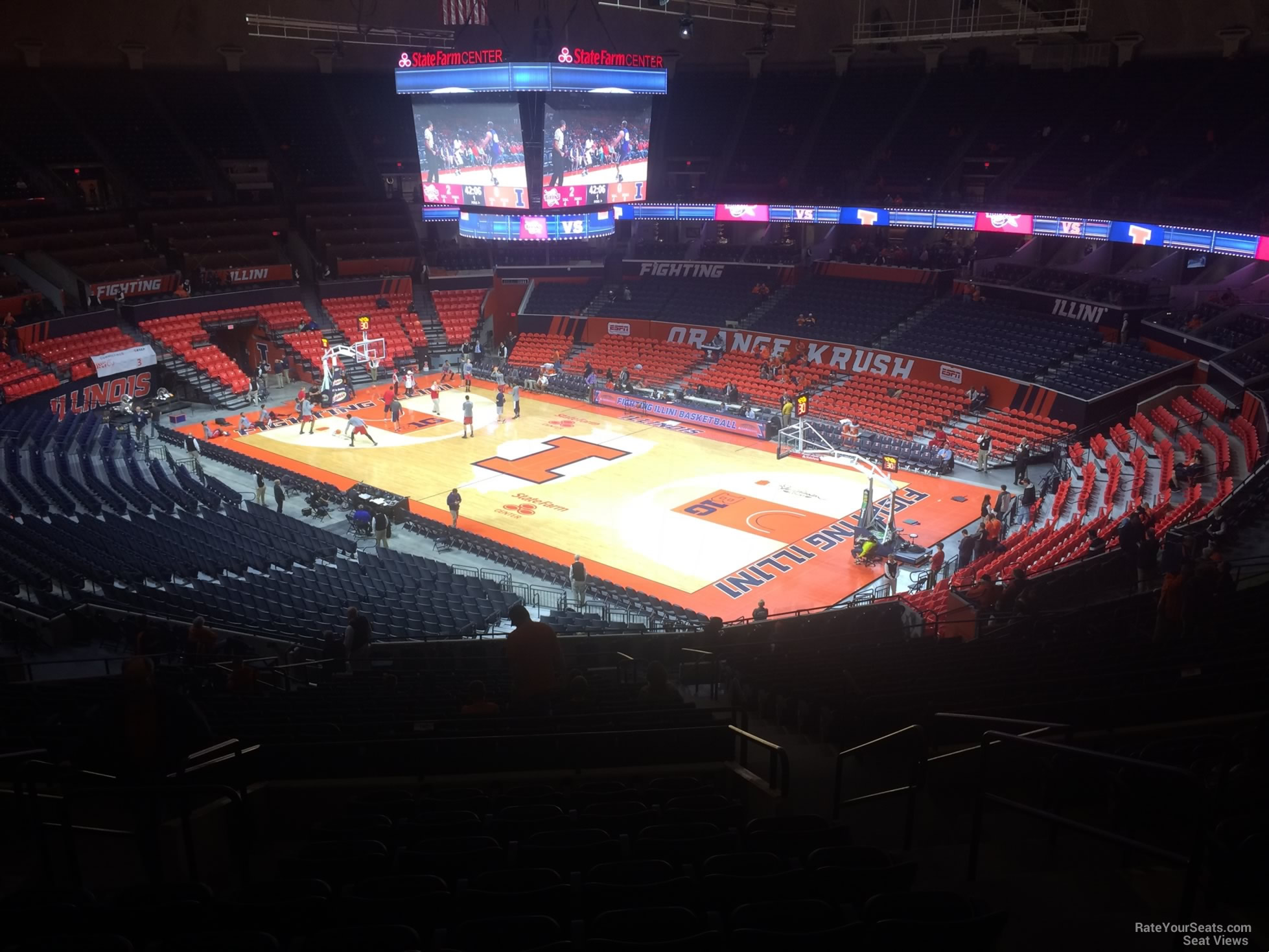 Seat View for State Farm Center Section 243, Row 10
