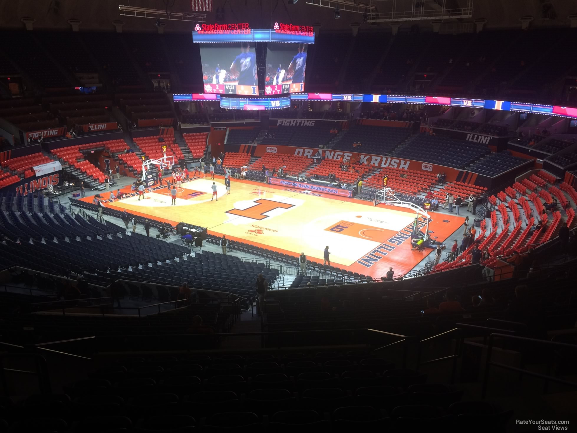 Seat View for State Farm Center Section 244, Row 10