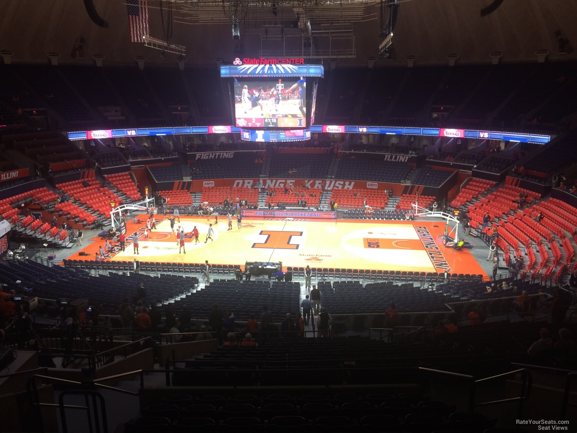 Seat View for State Farm Center Section 248, Row 10
