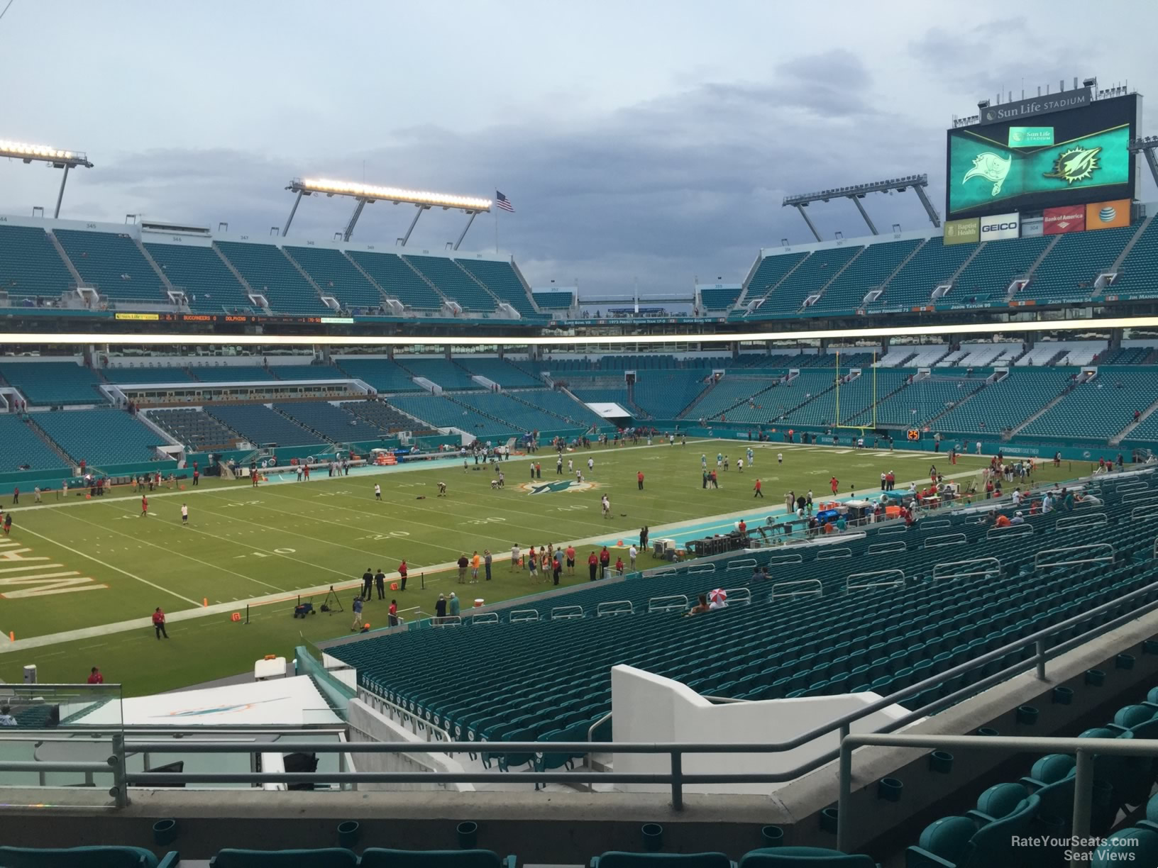 Seat View for Hard Rock Stadium Section 224, Row 5