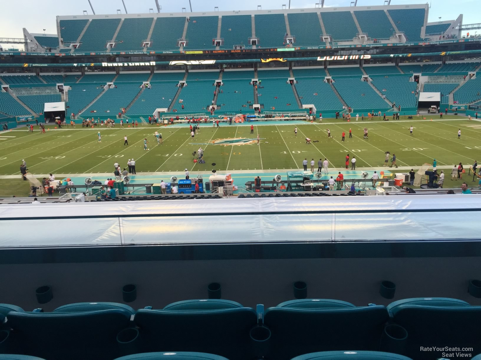 Seat View for Hard Rock Stadium Section 246, Row 5