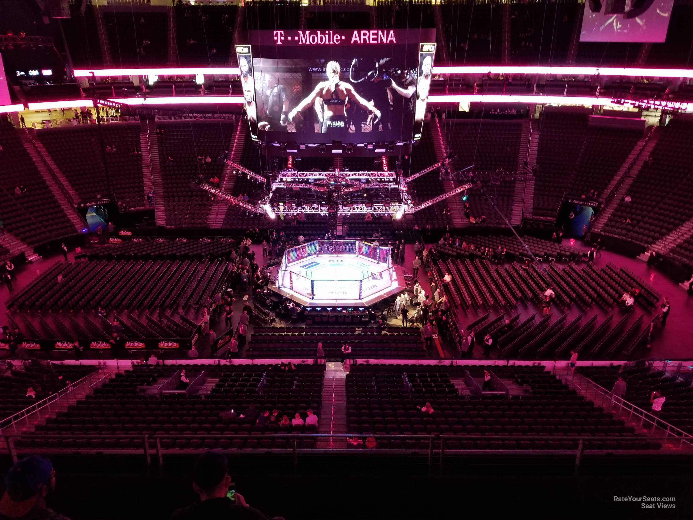 Section 205 At T Mobile Arena For Fighting Rateyourseats Com