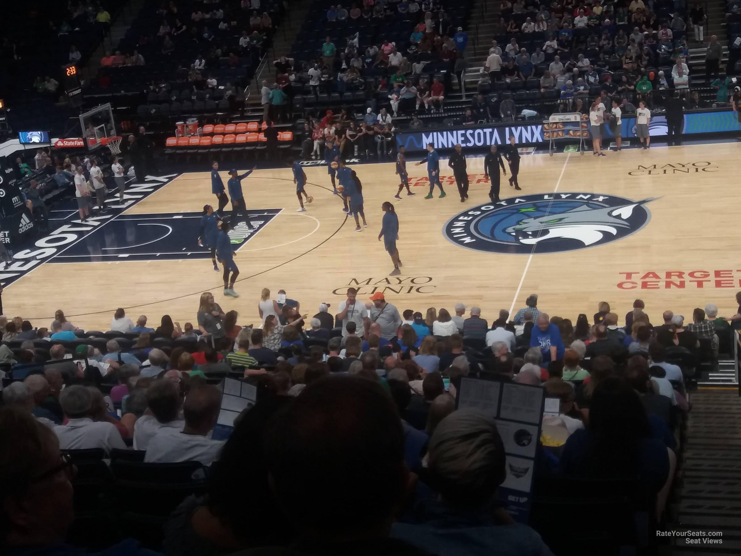 Target Center Section 111 Minnesota Timberwolves Rateyourseats Com