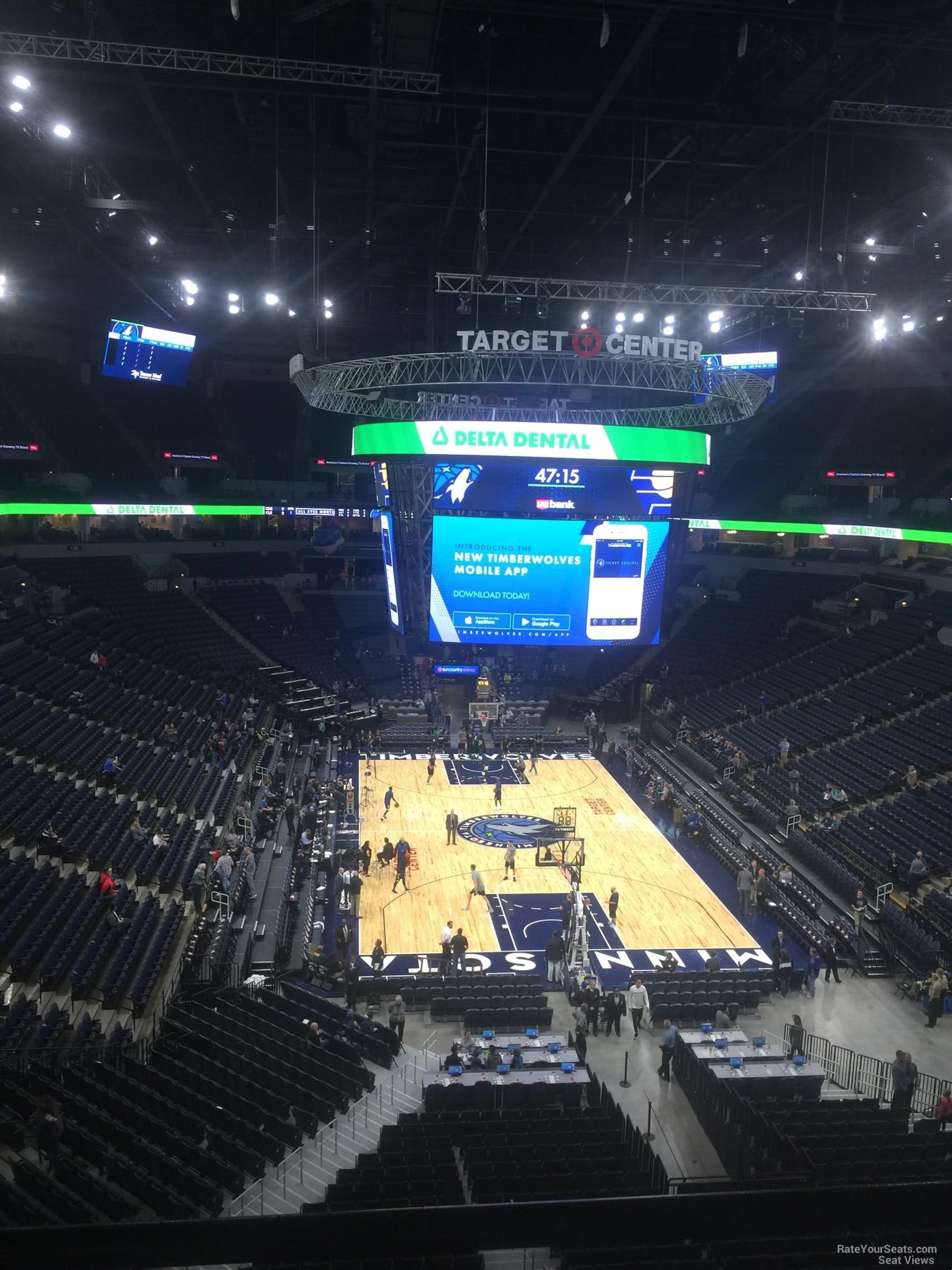 Target Center Section 222 Minnesota Timberwolves Rateyourseats Com