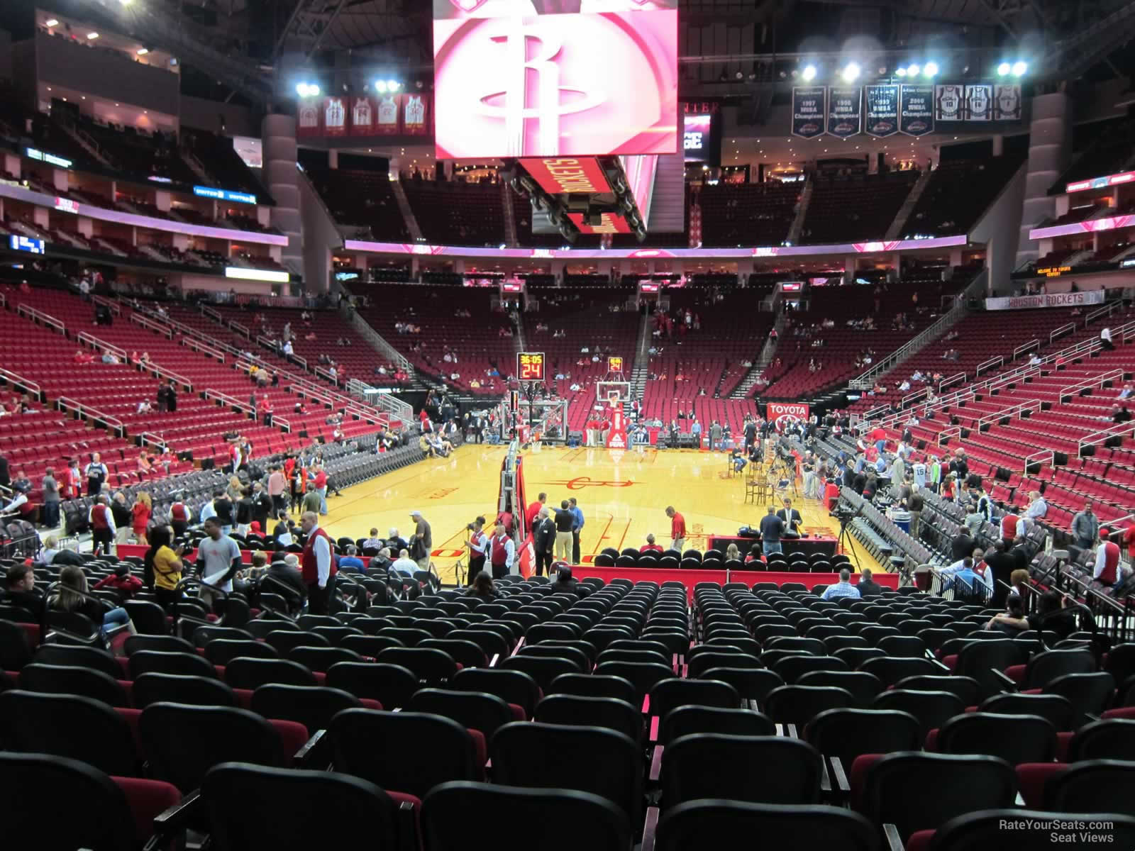 Section 126 at Toyota Center - Houston Rockets ...