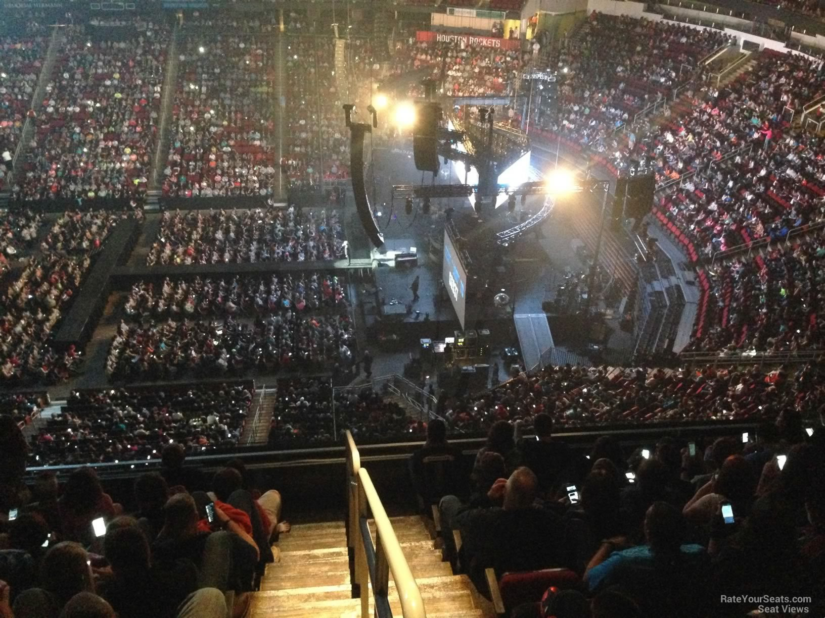 Toyota Center Section 407 Concert Seating Rateyourseats Com