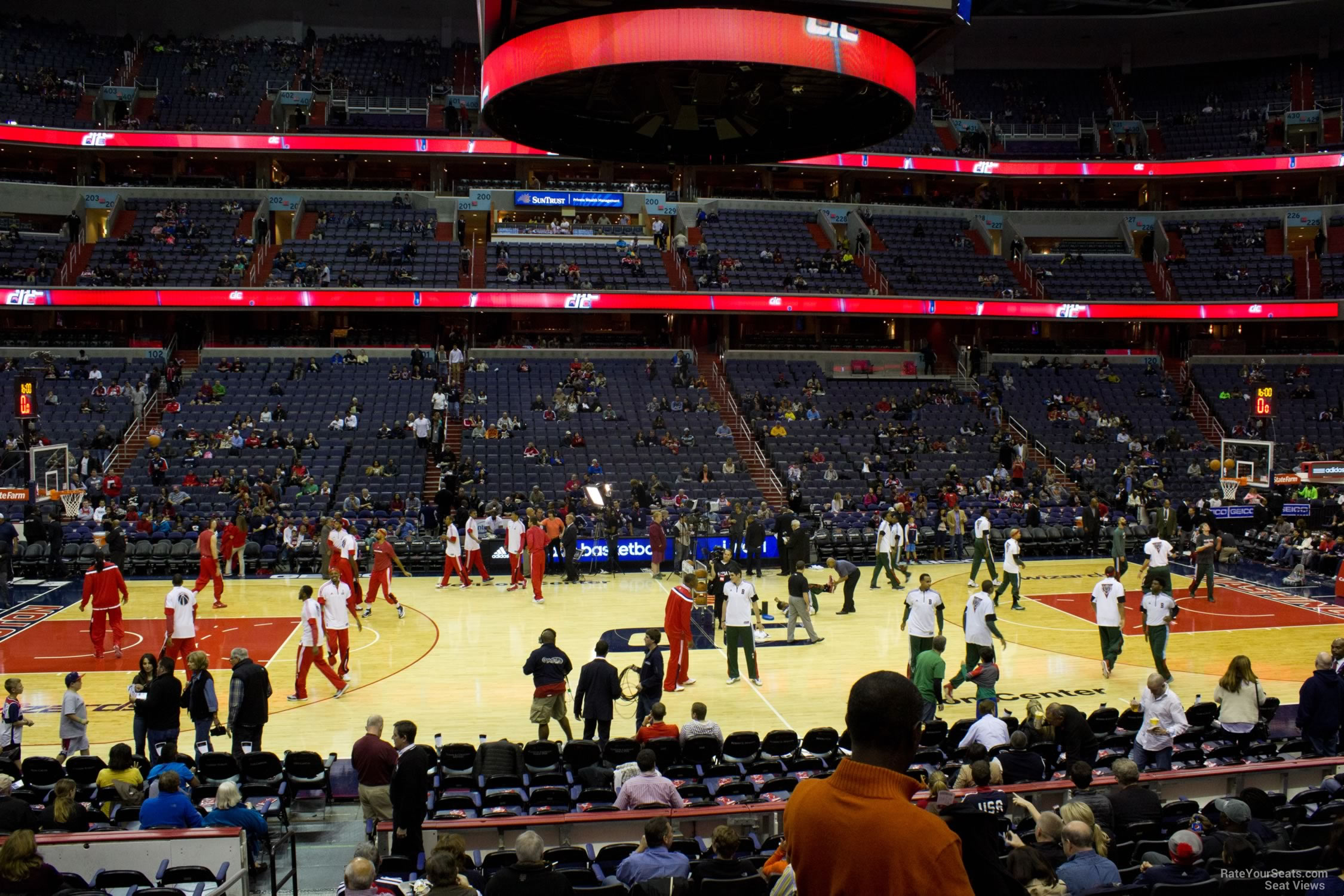 Basketball Seat View for Capital One Arena Section 111, Row N