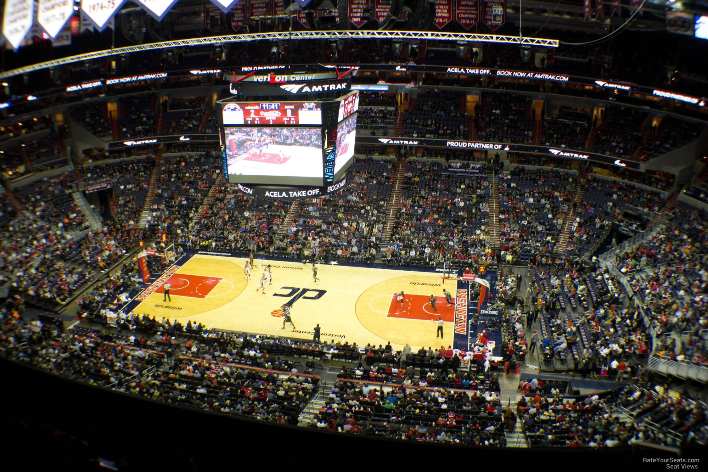 Basketball Seat View for Capital One Arena Section 402, Row F