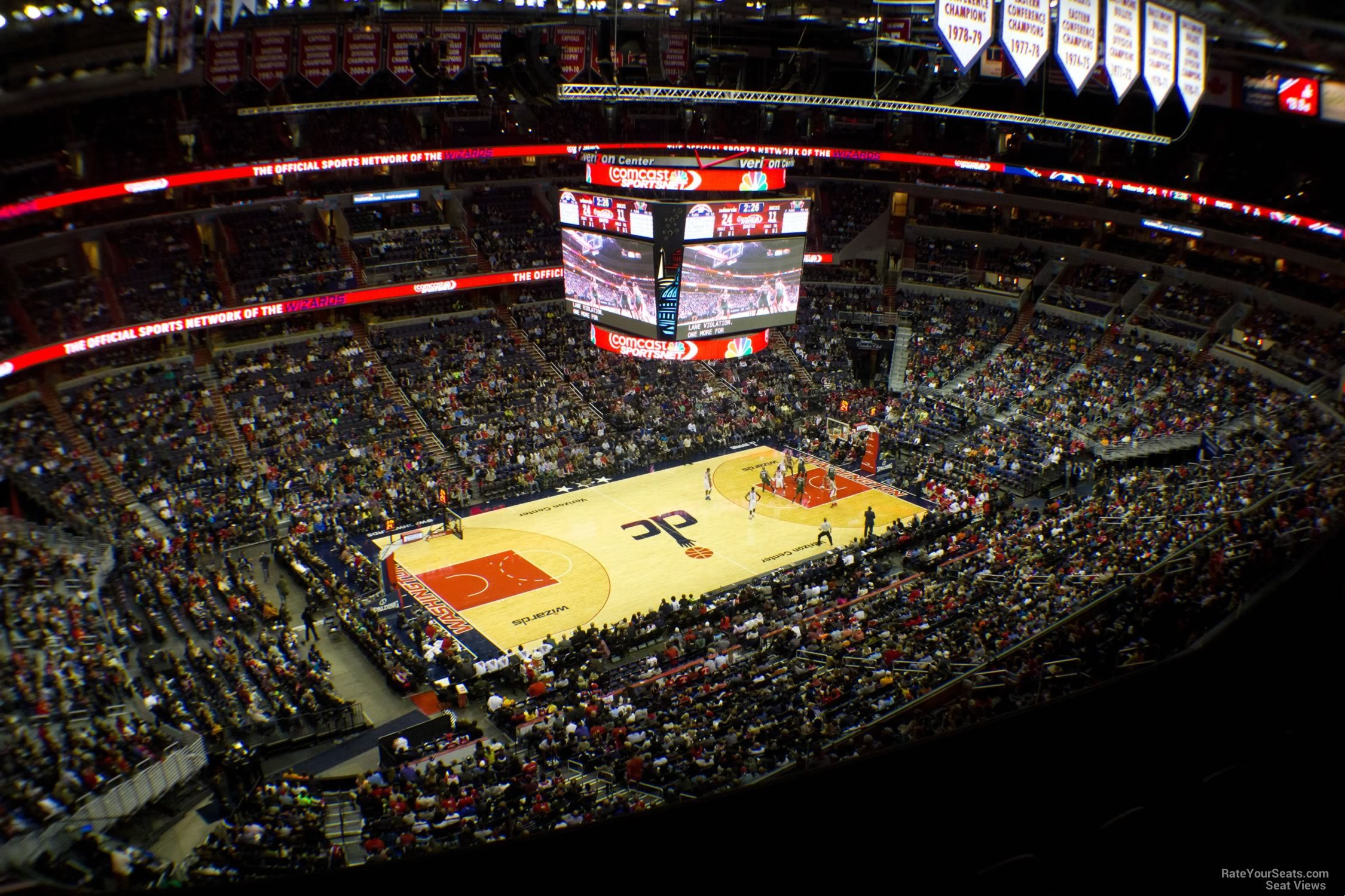 Basketball Seat View for Capital One Arena Section 431, Row F