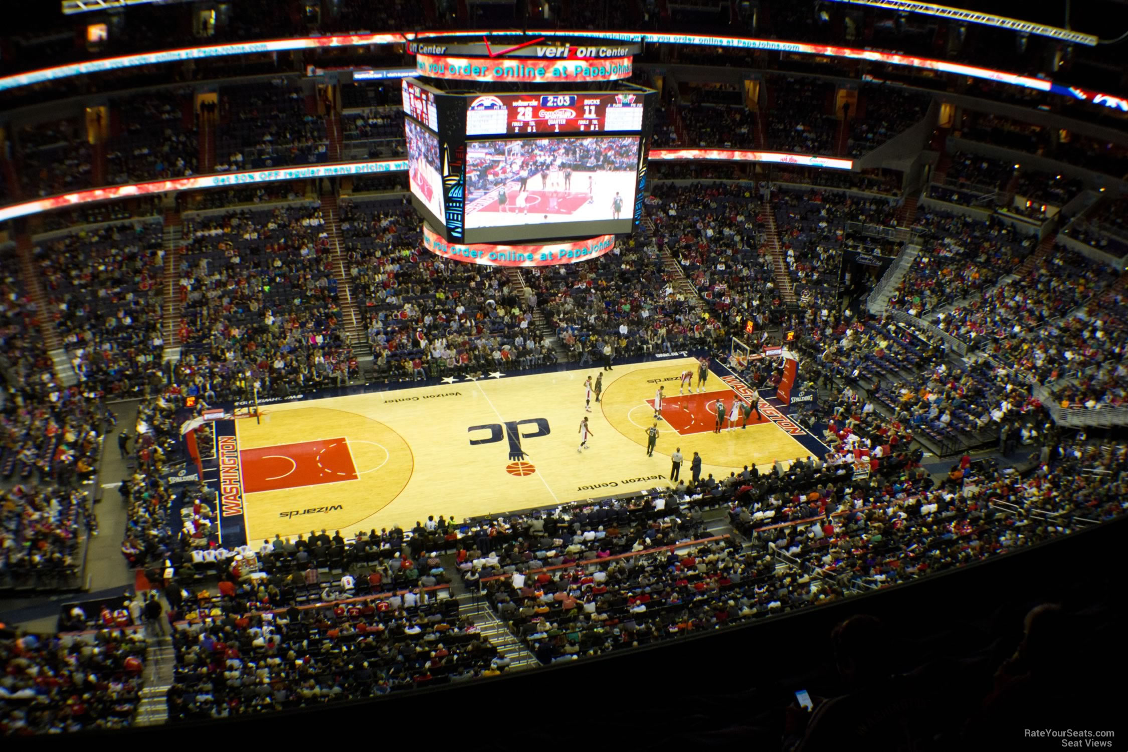 Basketball Seat View for Capital One Arena Section 433, Row F