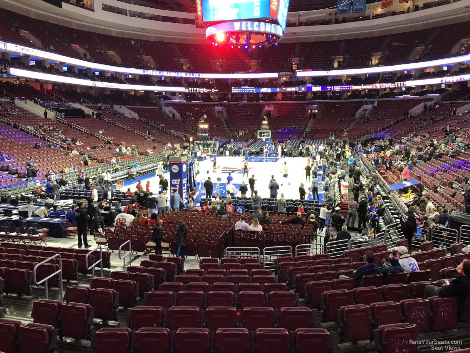 Wells Fargo Center Section 120 Philadelphia 76ers Rateyourseatscom