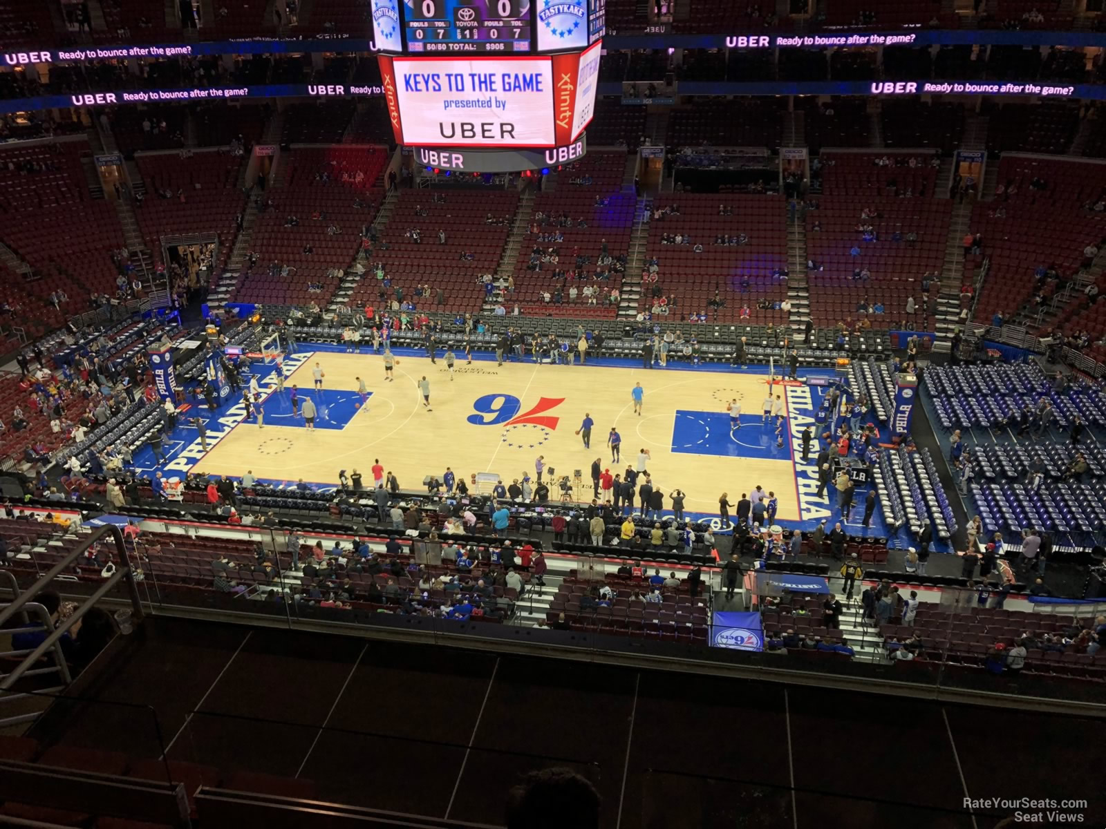Philadelphia 76ers Seat View for Wells Fargo Center Section 202, Row 7