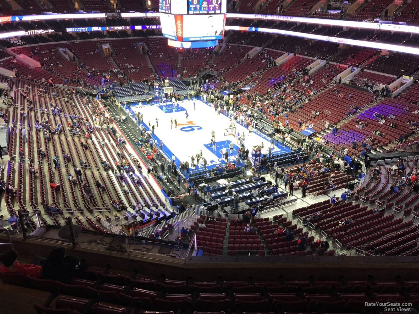Philadelphia 76ers Seat View for Wells Fargo Center Section 217A, Row 7