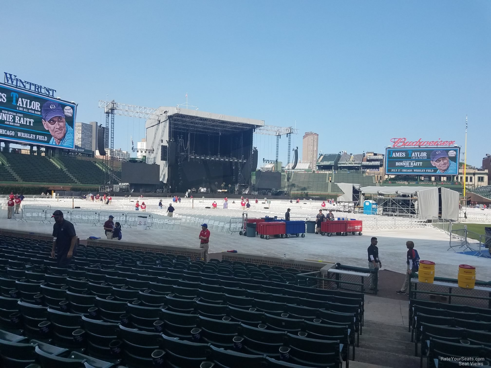 Concert Seat View for Wrigley Field Section 10, Row 10