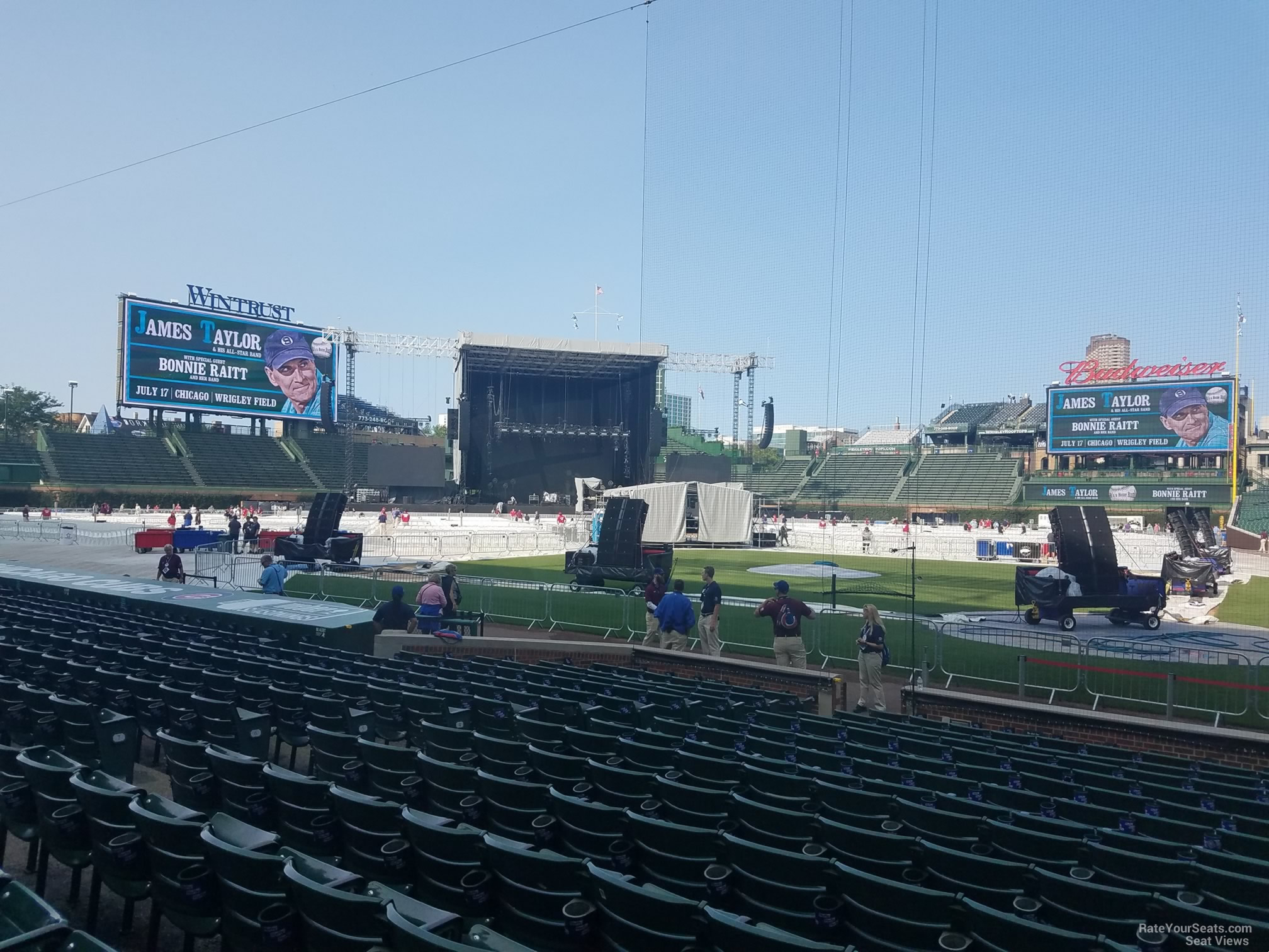 Concert Seat View for Wrigley Field Section 15, Row 10, Seat 108