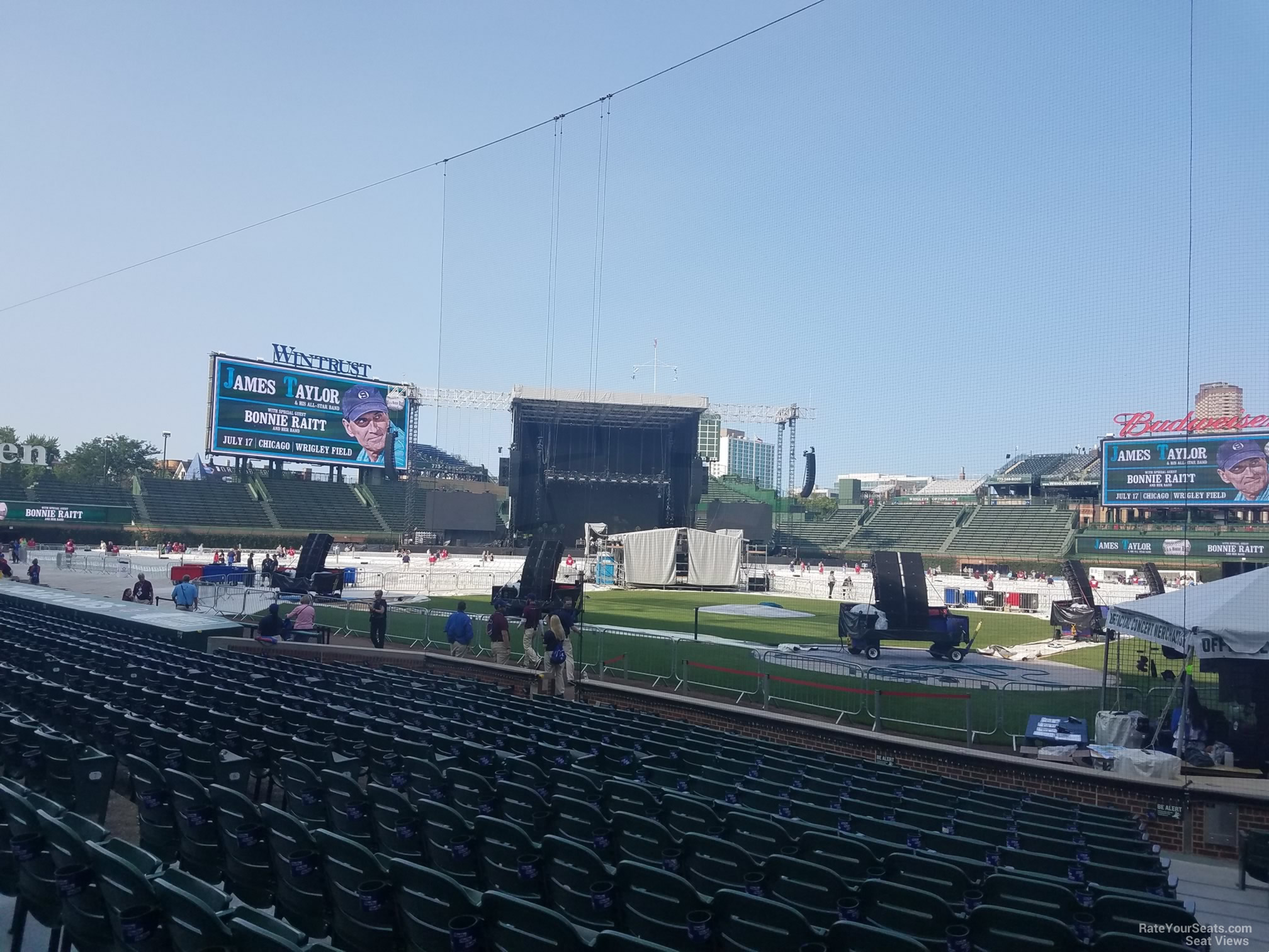 Concert Seat View for Wrigley Field Section 16, Row 10, Seat 103