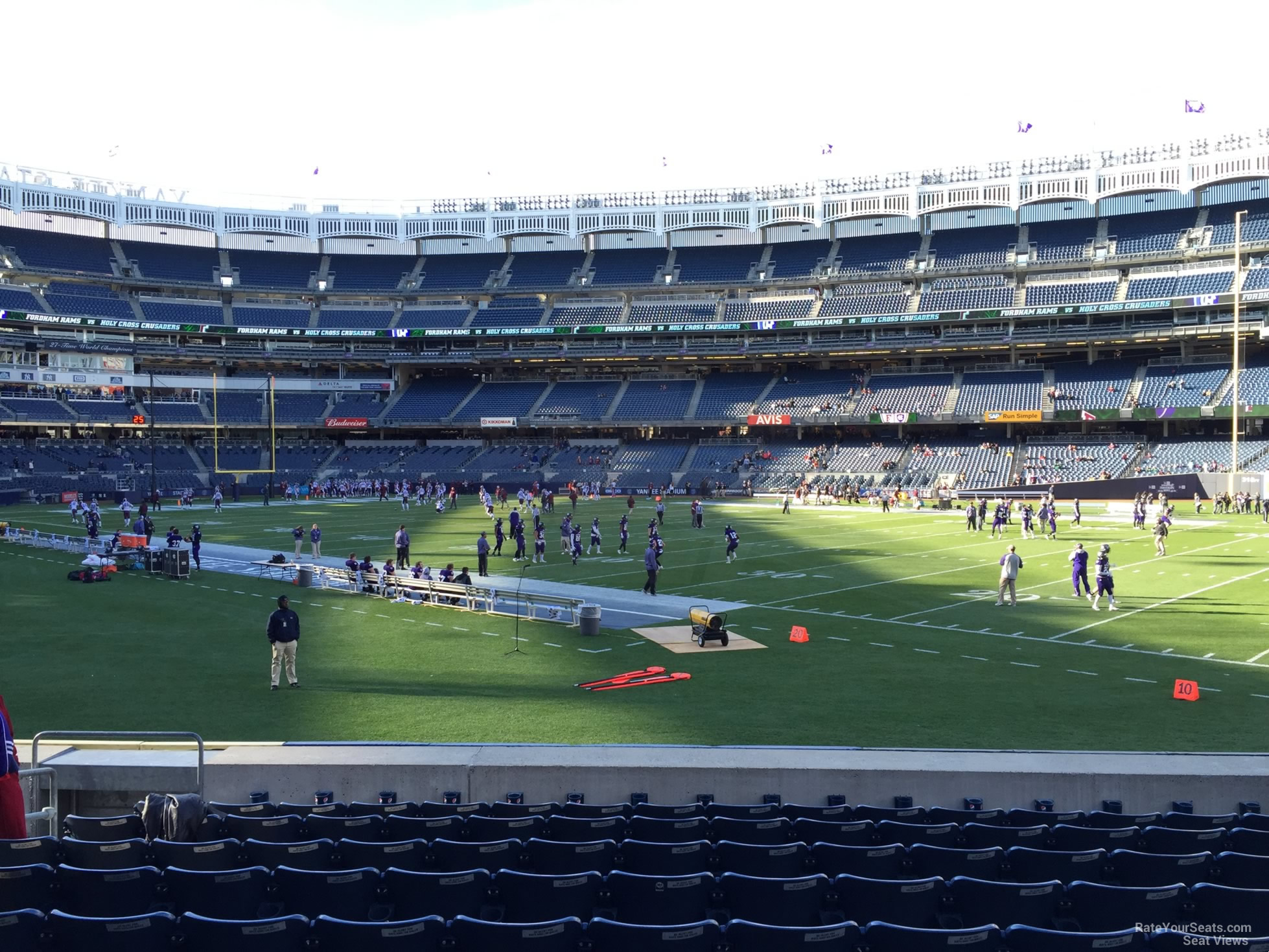 Football Seat View for Yankee Stadium Section 103, Row 10