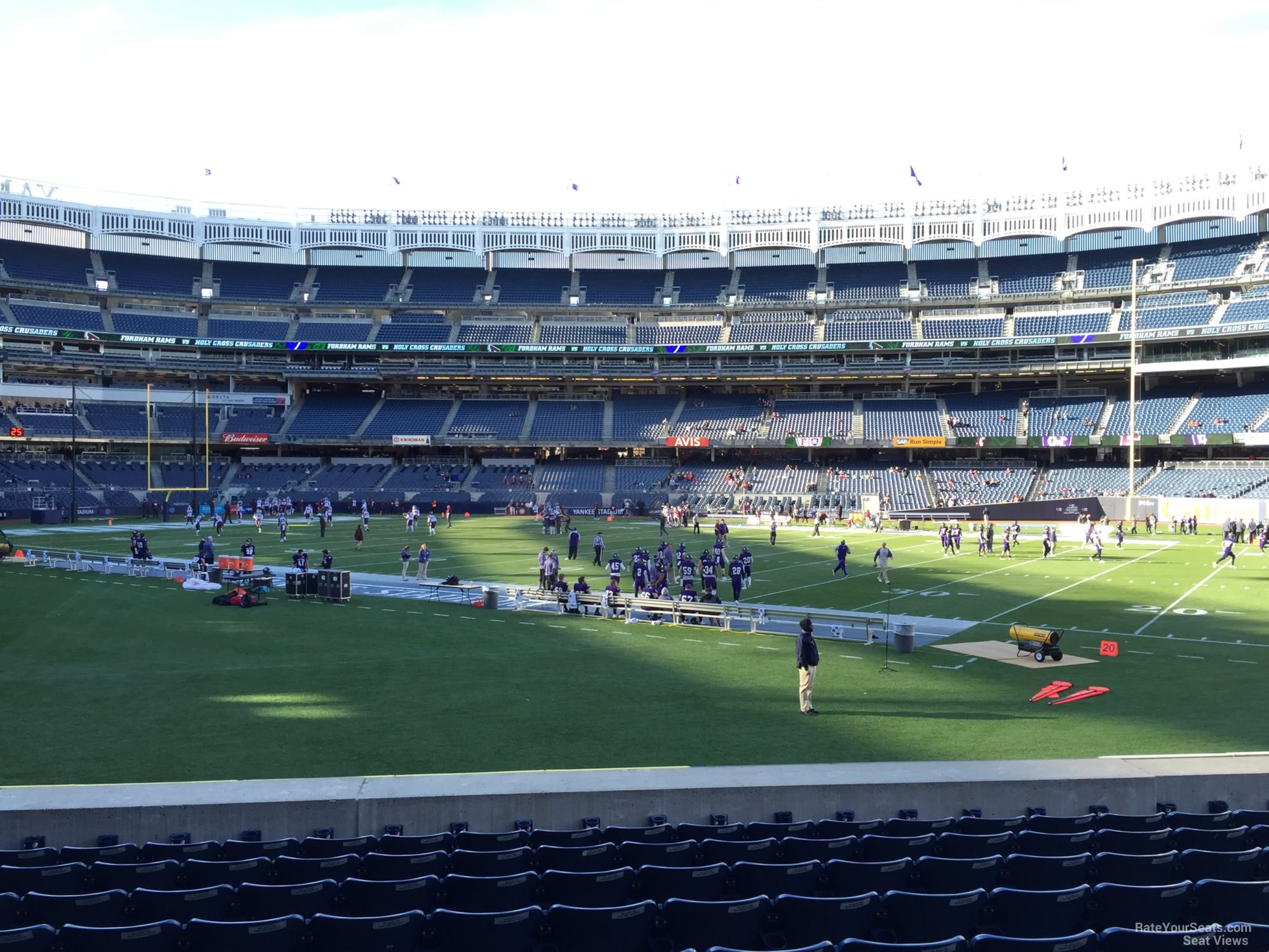 Football Seat View for Yankee Stadium Section 104, Row 10