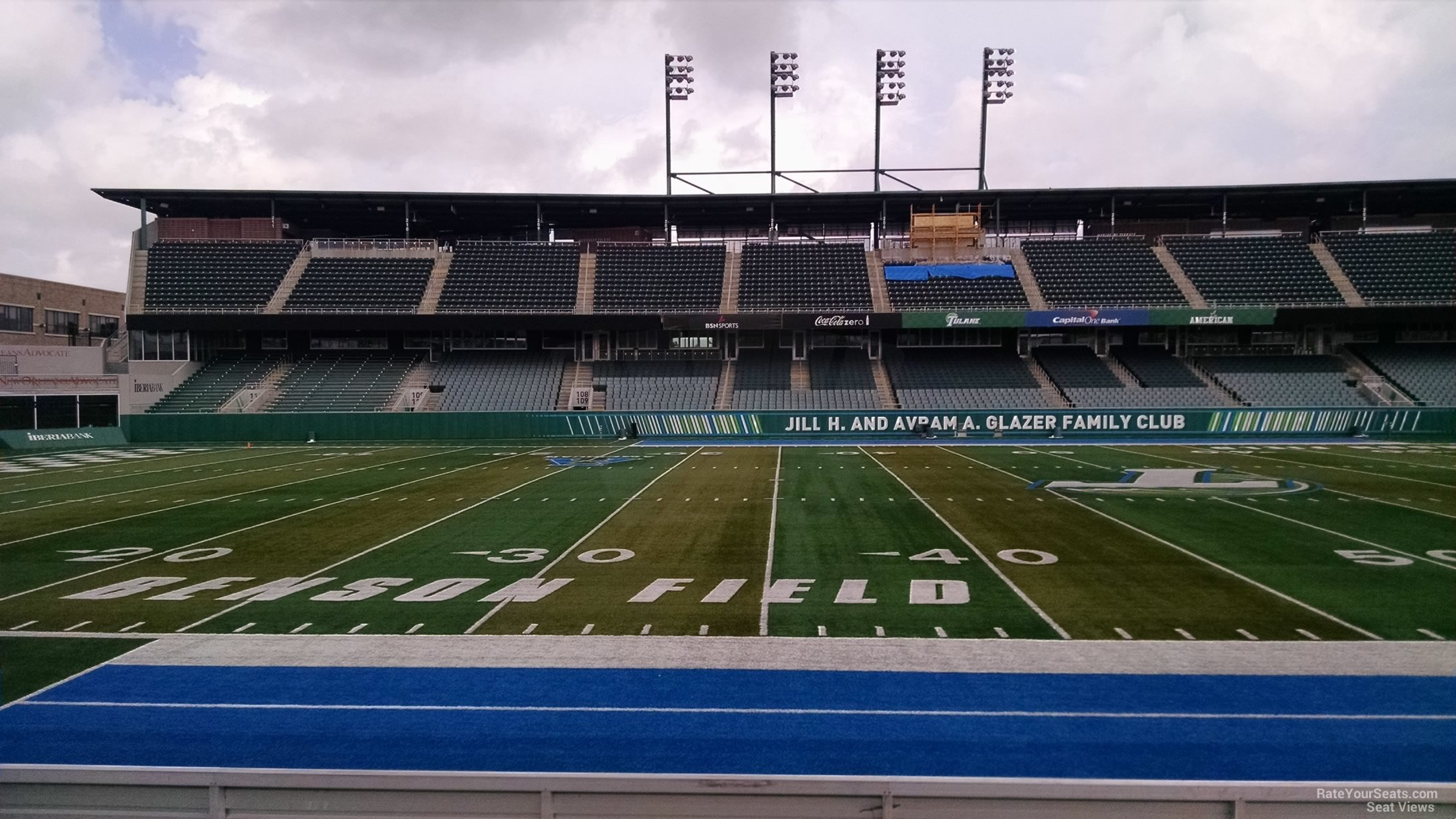 Seat View for Yulman Stadium Section 120, Row H