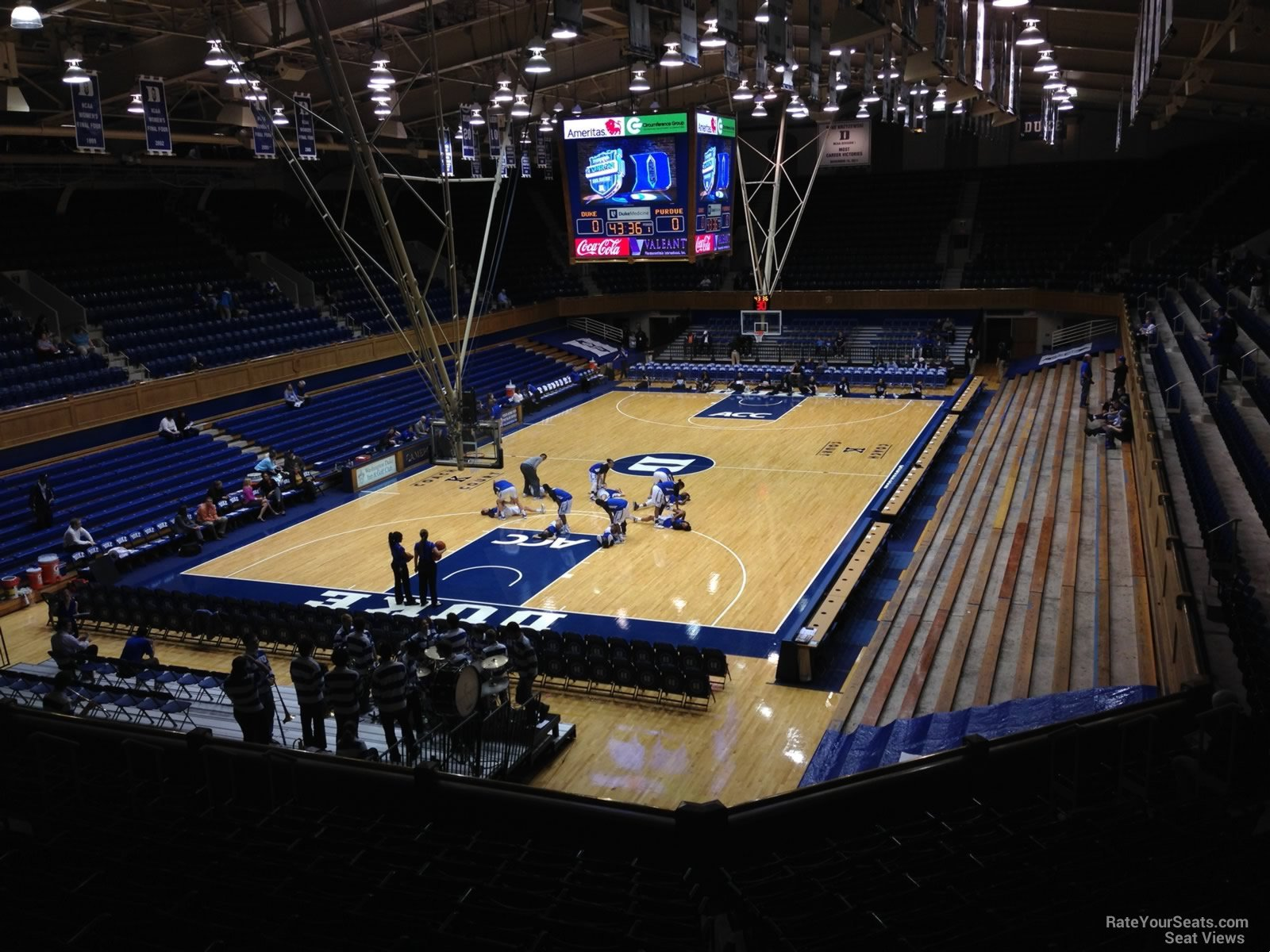 Seat View for Cameron Indoor Stadium Section 11, Row L