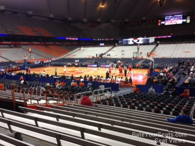 Syracuse Orange Seat View for Carrier Dome Section 107