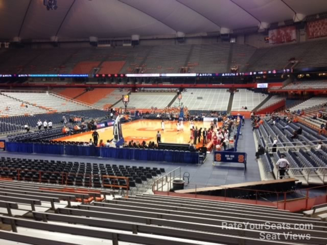 Carrier Dome Section 112 Syracuse Basketball Rateyourseatscom