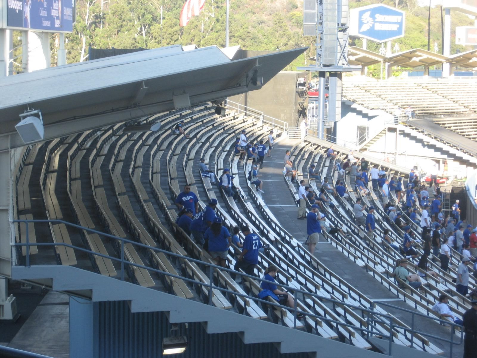 Dodger Stadium Outfield Pavilion Baseball Seating