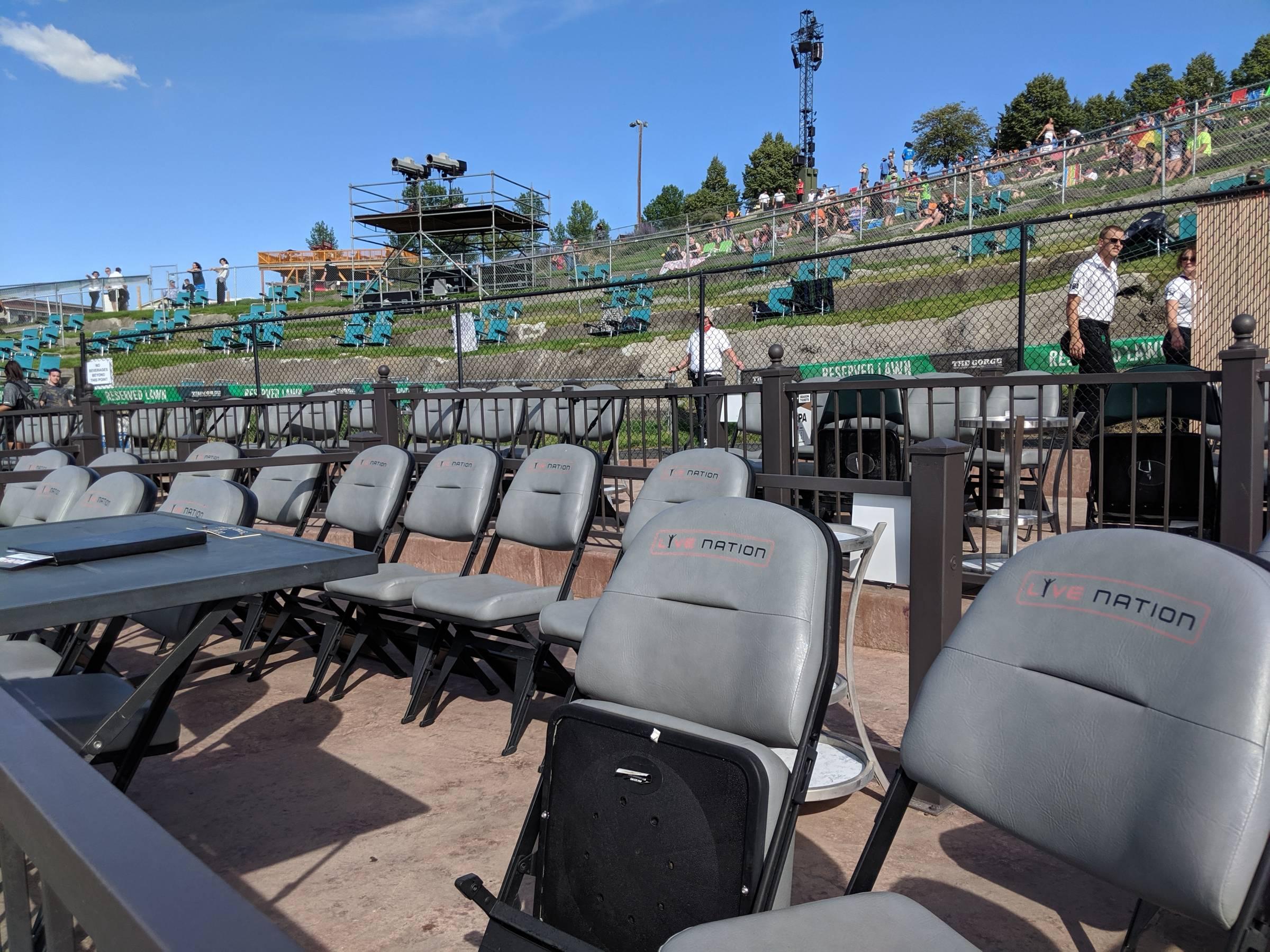 Gorge Amphitheatre Box Seats Rateyourseatscom
