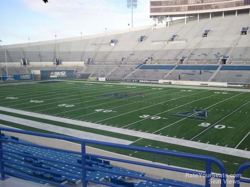 Seat View for Liberty Bowl Section 101, Row 25
