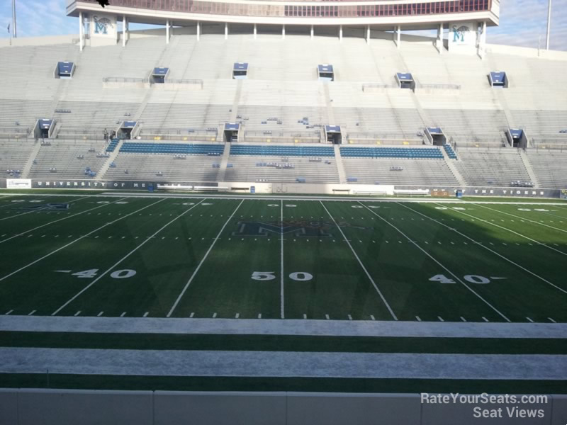 Seat View for Liberty Bowl Section 104, Row 20