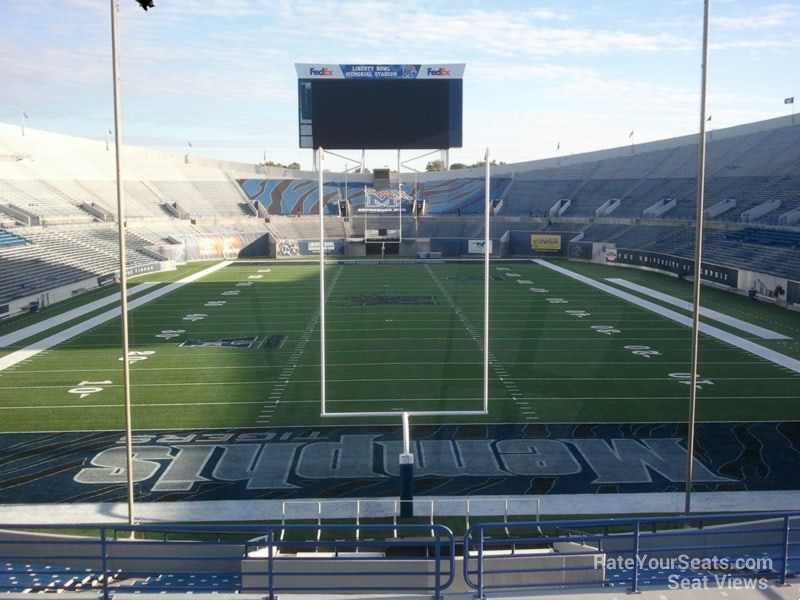 Seat View for Liberty Bowl Section 113, Row 33