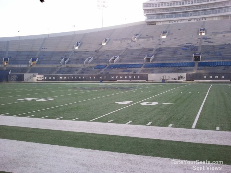 Seat View for Liberty Bowl Section 119, Row 1