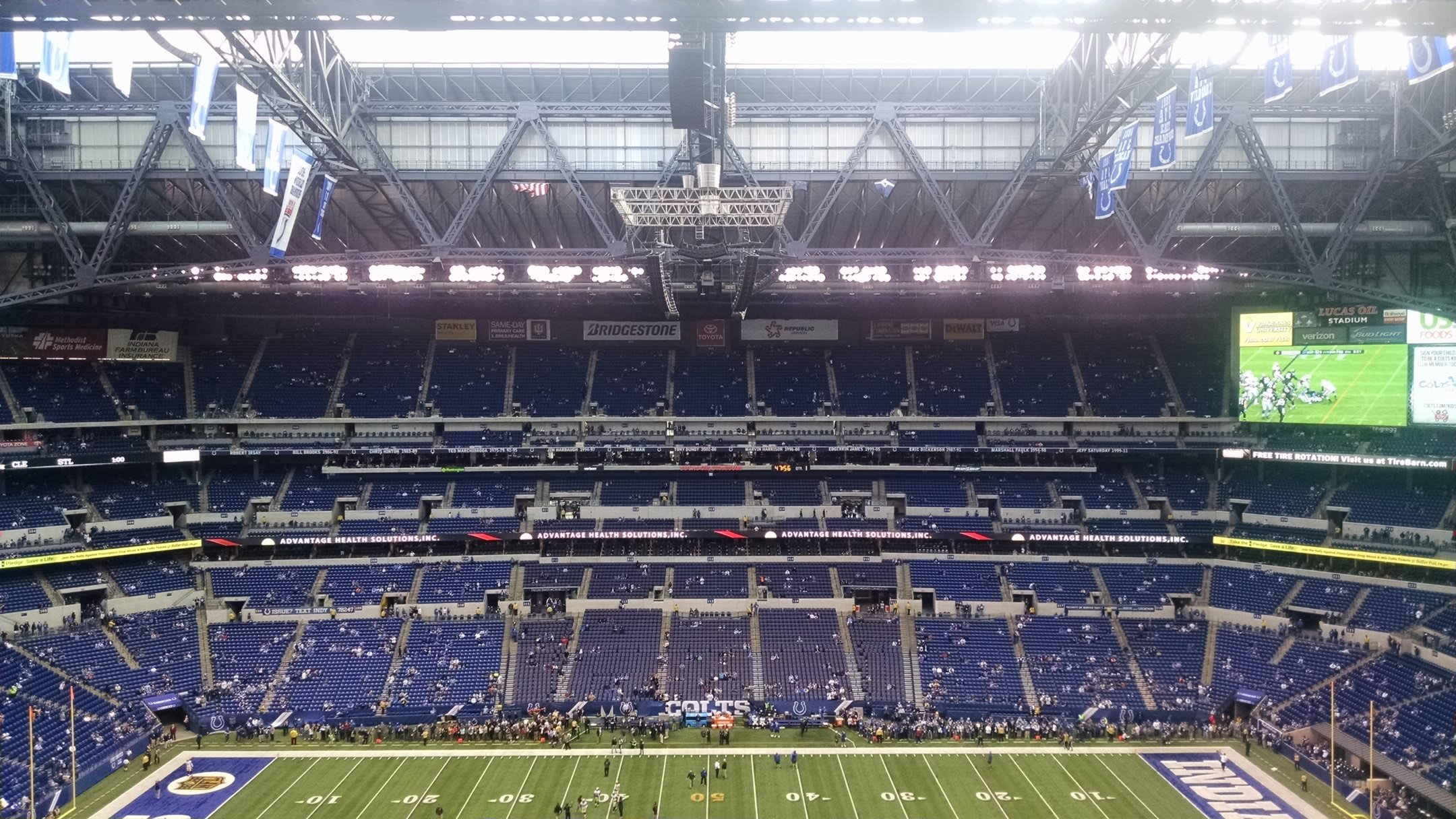 Lucas Oil Stadium Terrace Level Sideline Football Seating