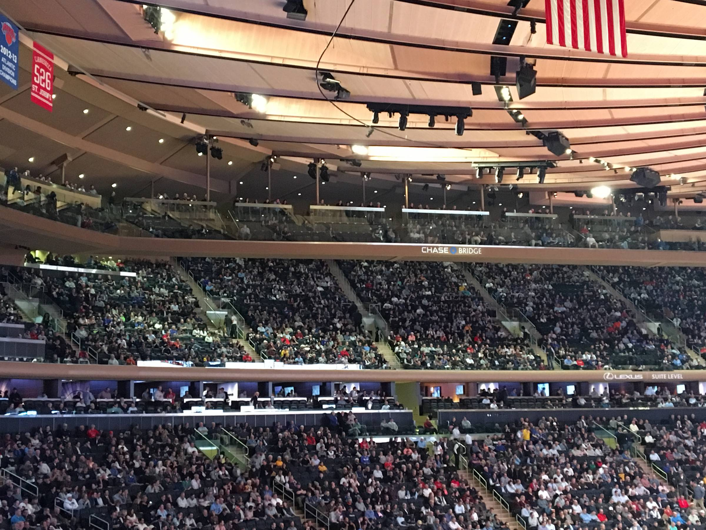 View from across Chase Bridges at Madison Square Garden