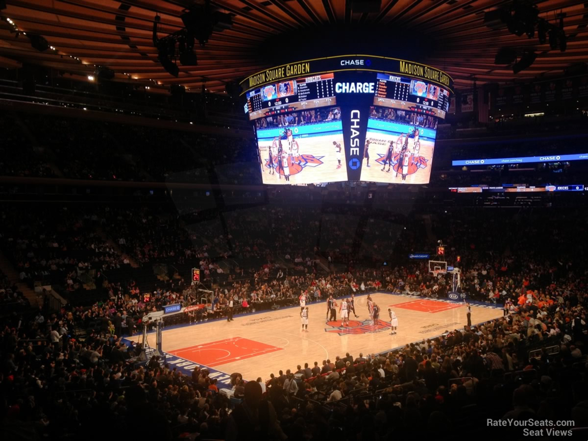 New York Knicks Seat View for Madison Square Garden Section 104