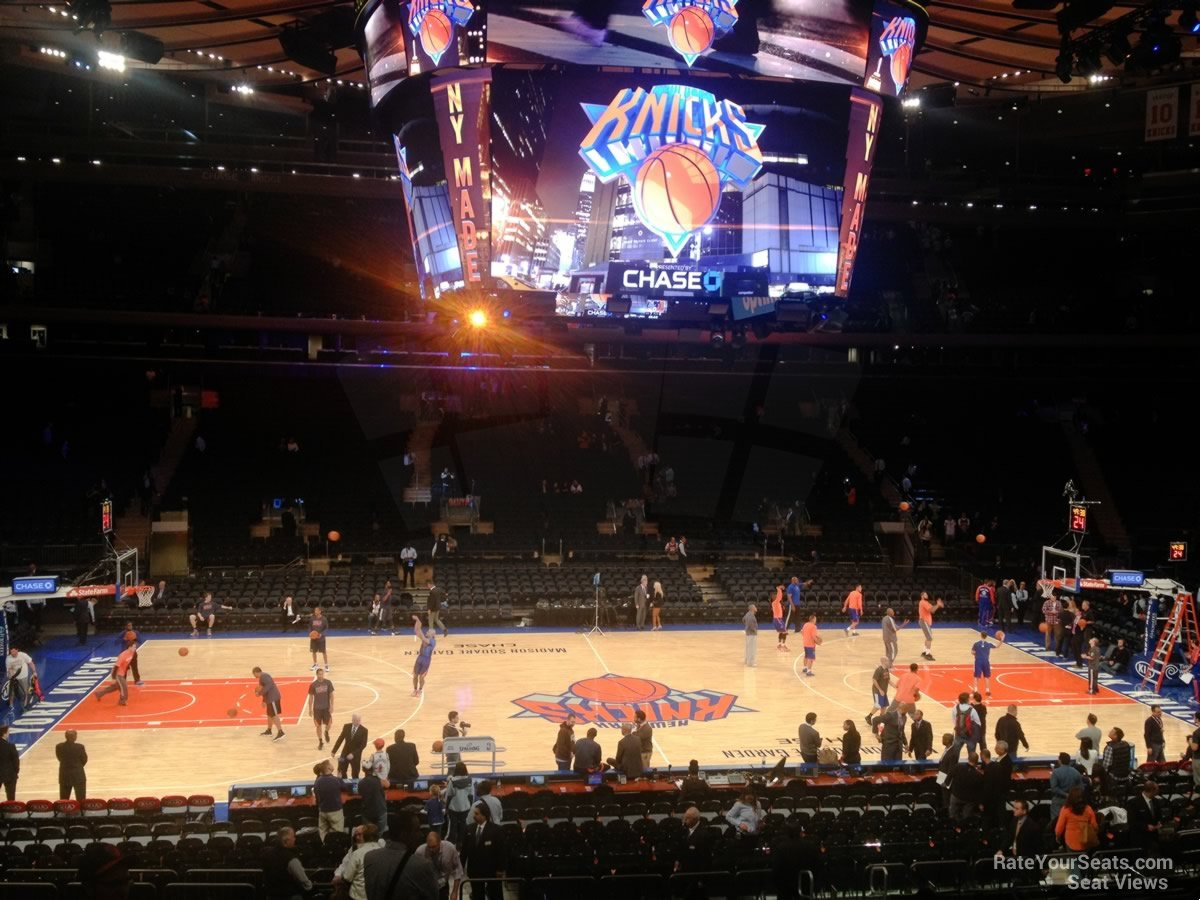 New York Knicks Seat View for Madison Square Garden Section 106