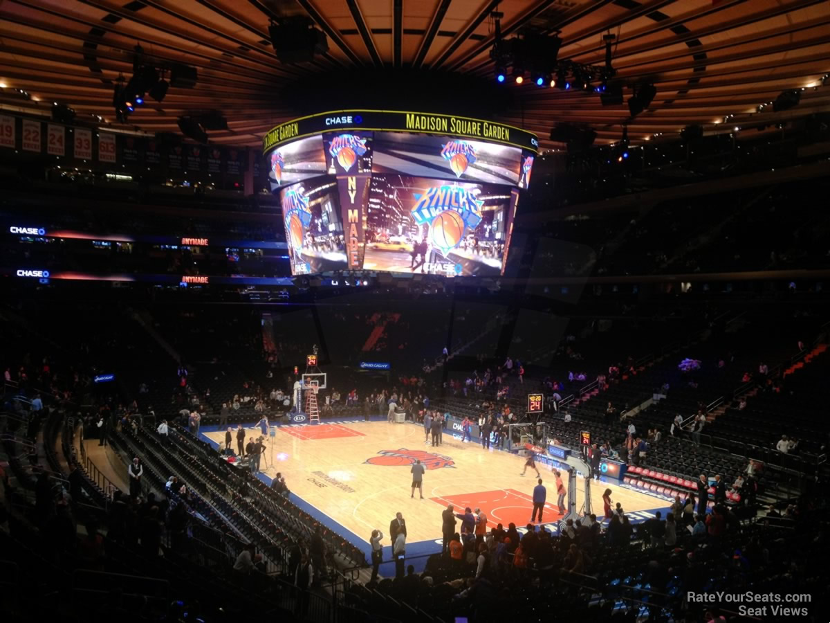 New York Knicks Seat View for Madison Square Garden Section 120