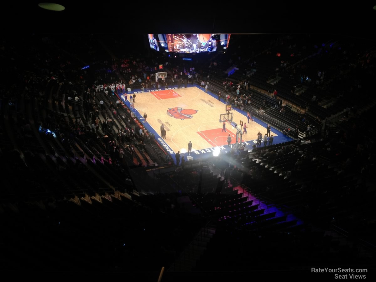 New York Knicks Seat View for Madison Square Garden Section 414, Row 1