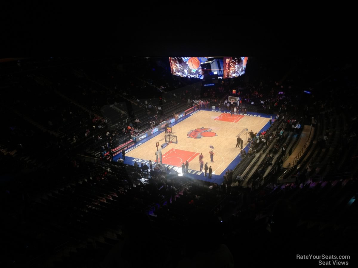 New York Knicks Seat View for Madison Square Garden Section 418