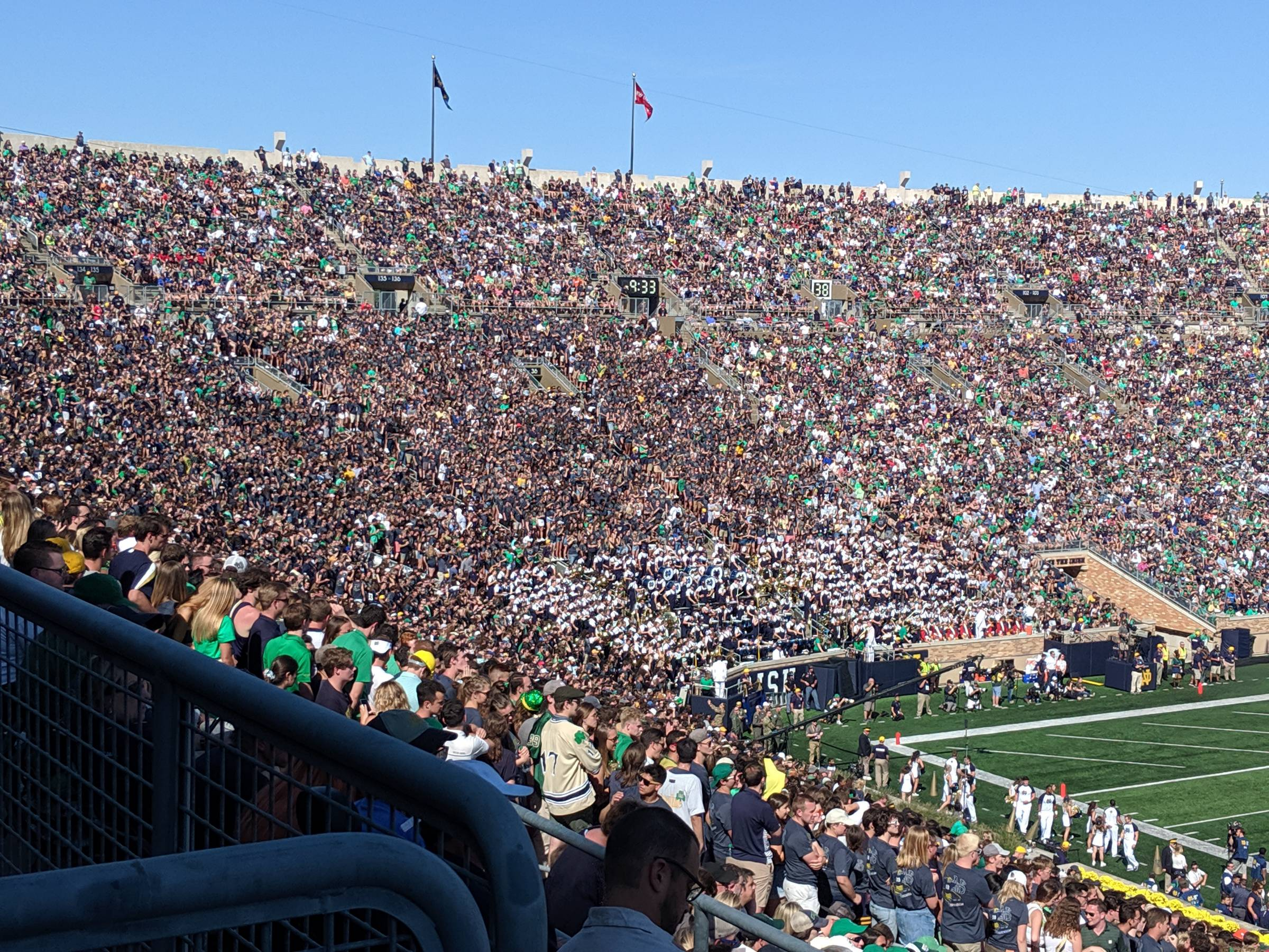 Student Seating at Notre Dame Stadium