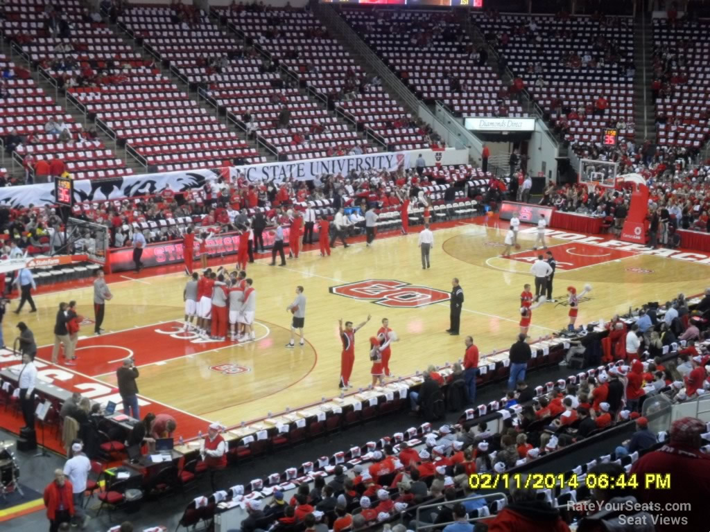 Pnc Arena Section 106 Nc State Basketball Rateyourseatscom