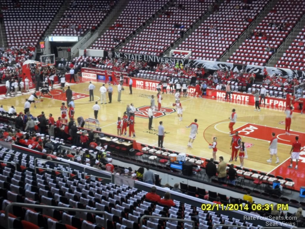 Pnc Arena Section 116 Nc State Basketball Rateyourseatscom