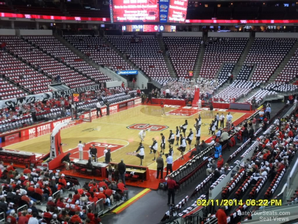 Pnc Arena Section 124 Nc State Basketball Rateyourseatscom
