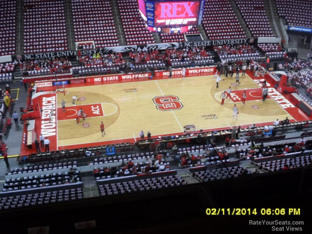 Pnc Arena Section 324 Nc State Basketball Rateyourseatscom