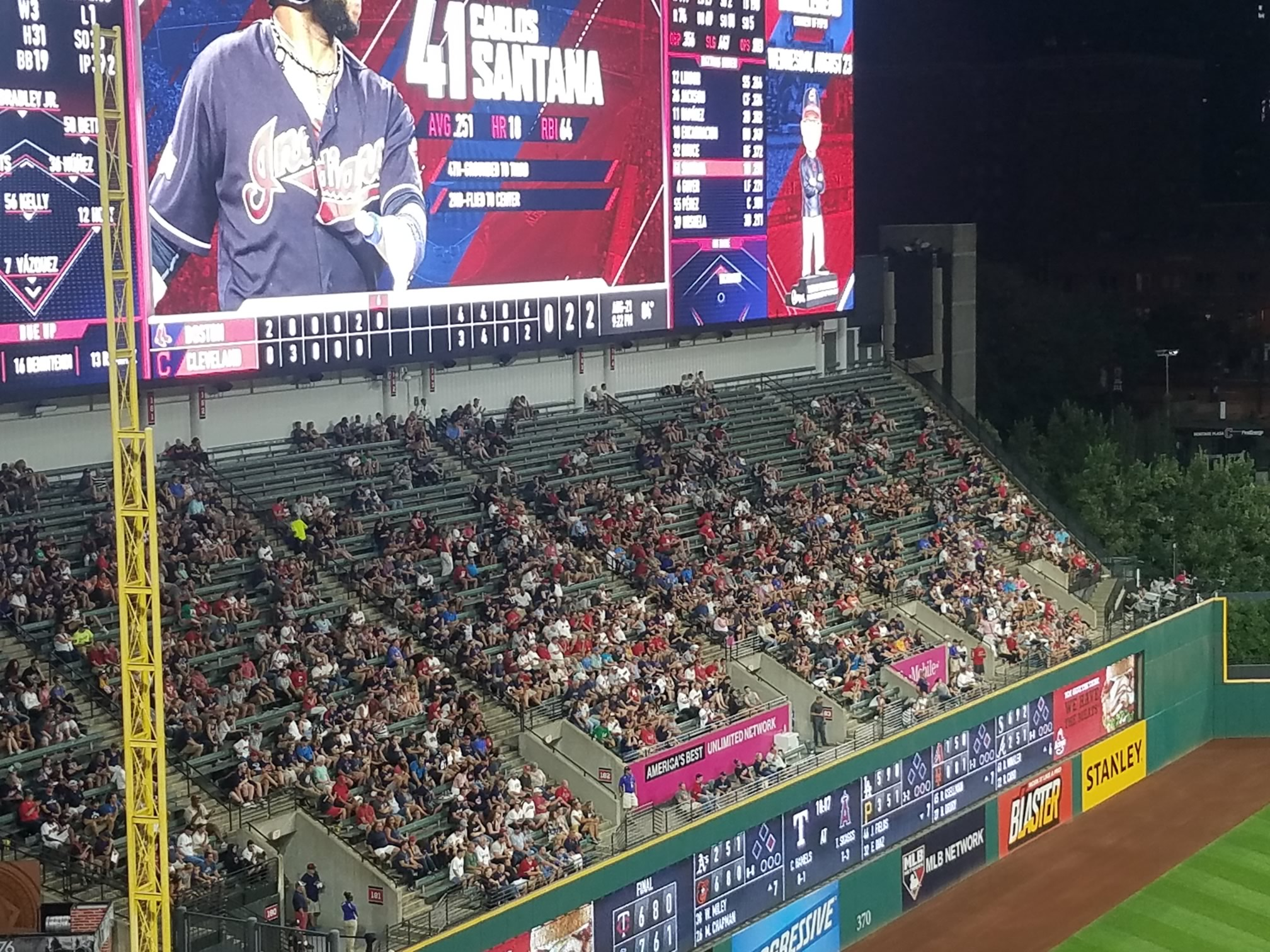 Progressive Field Bleachers Baseball Seating