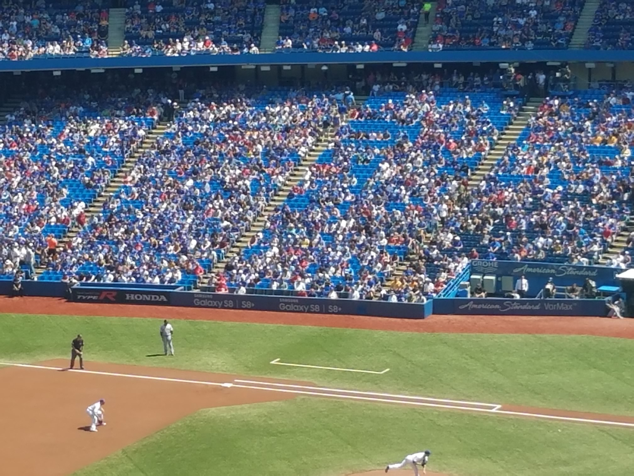 blue jays first base action seats