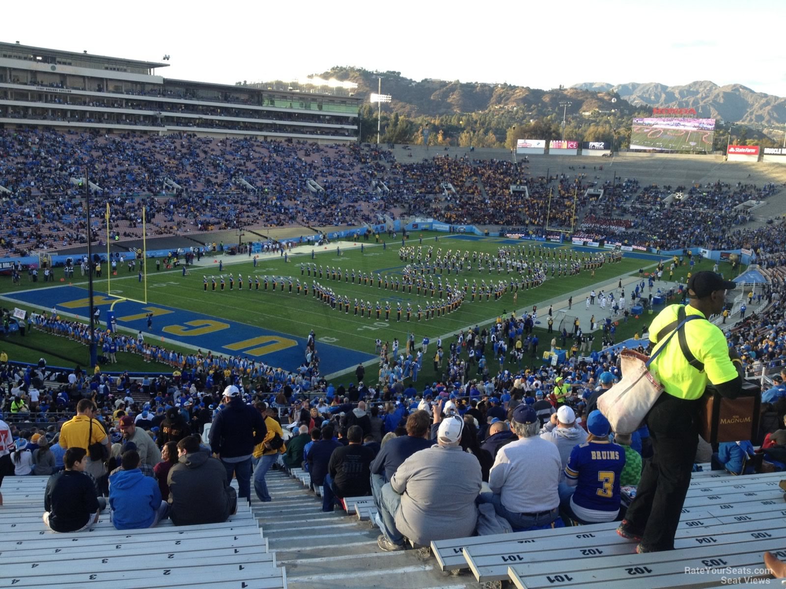 Seat View for Rose Bowl Stadium Section 28, Row 71