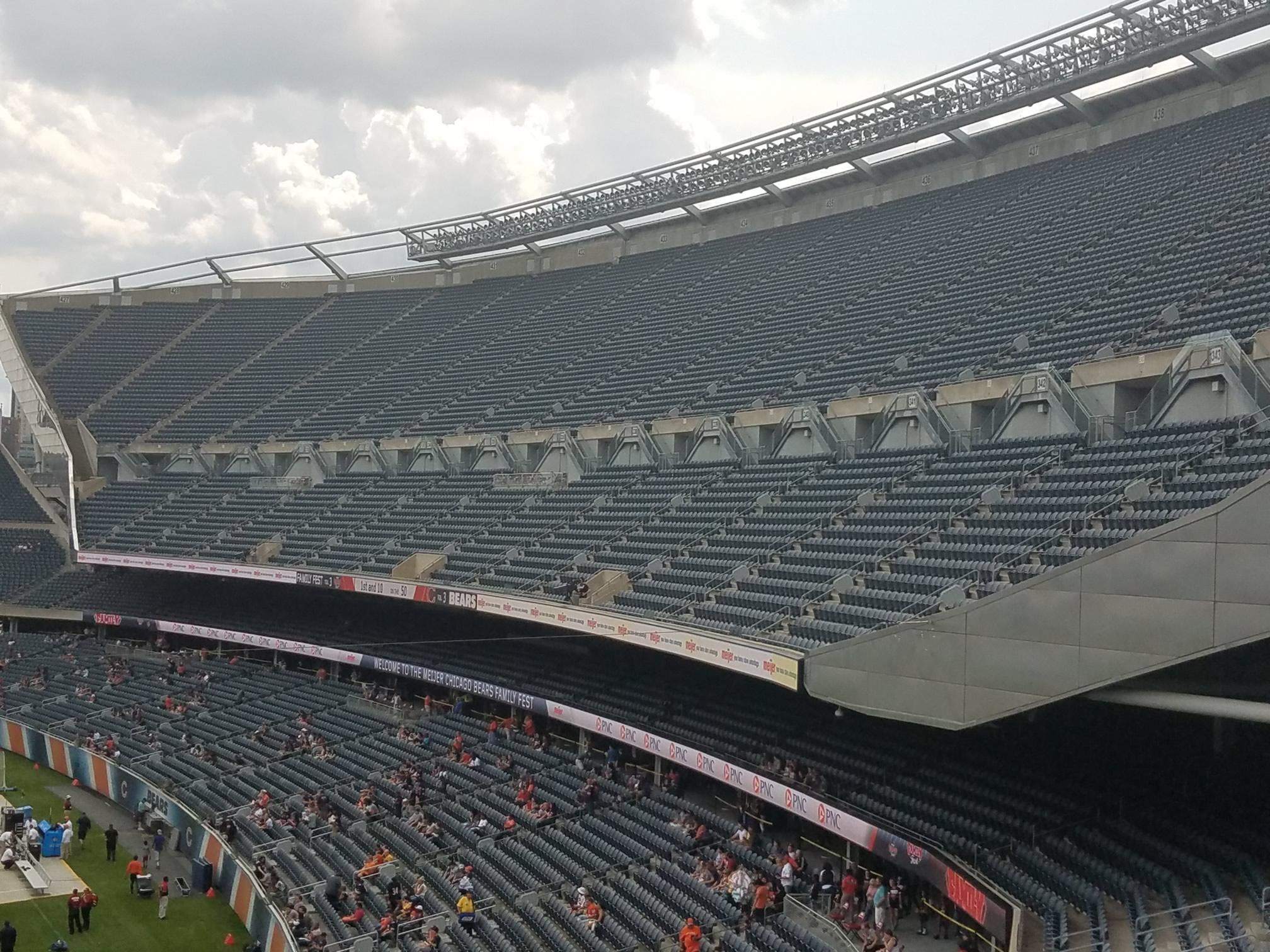 Soldier Field Media Deck Football Seating Rateyourseatscom